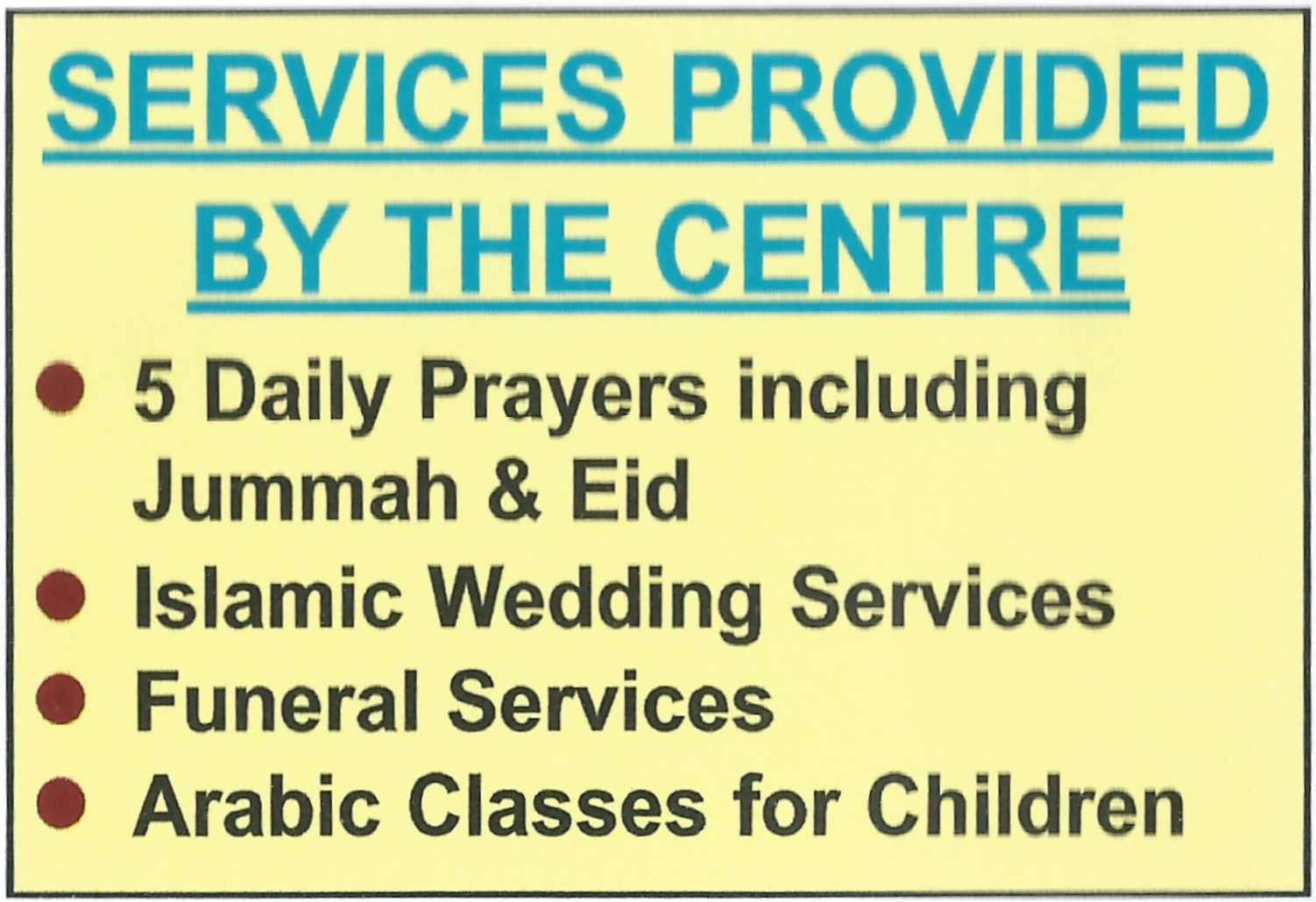 Mid Sussex Islamic Centre & Mosque, fajr, zuhr, asr, maghrib, isha, 5 daily prayers including Jummah & Eid. Islamic Weddings Services, Funeral Services, Arabic Classes for children